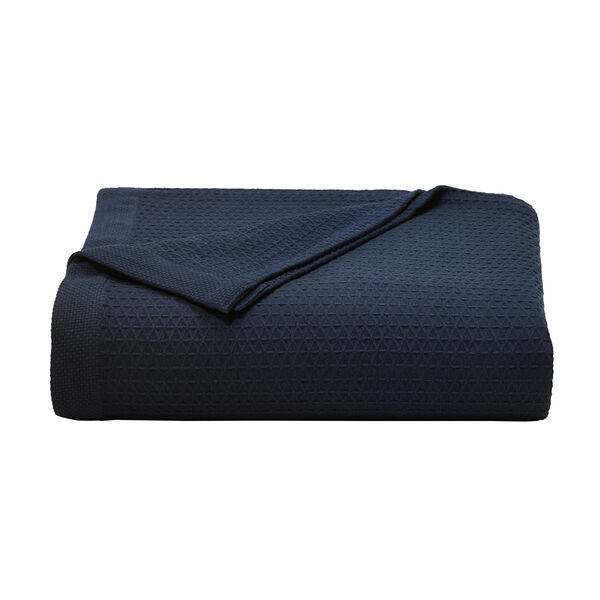 Baird Indigo Blanket - Distressed Blue Wash