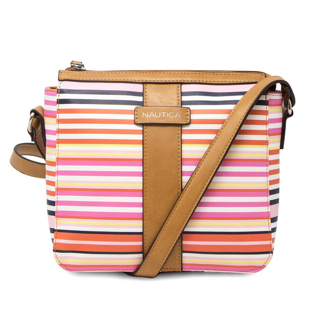 DOUBLE STRIPE CROSSBODY BAG,Orange,large