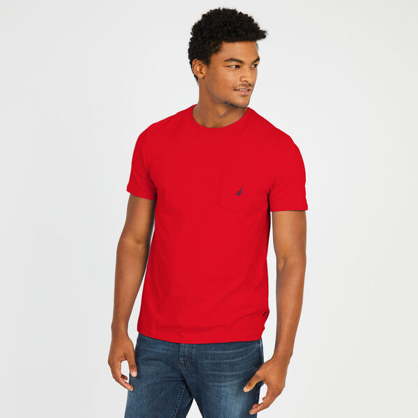 Big & Tall Active Stretch Pocket T-Shirt - Nautica Red