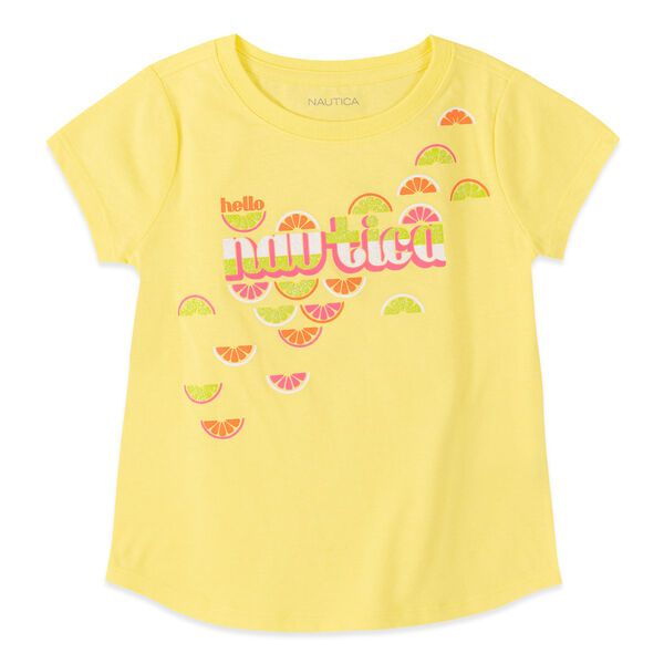 LITTLE GIRLS' FRUIT PRINT TEE (4-7) - Limelight
