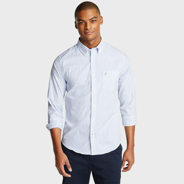 SLIM FIT WRINKLE-RESISTANT SHIRT IN STRIPE - Rolling River Wash