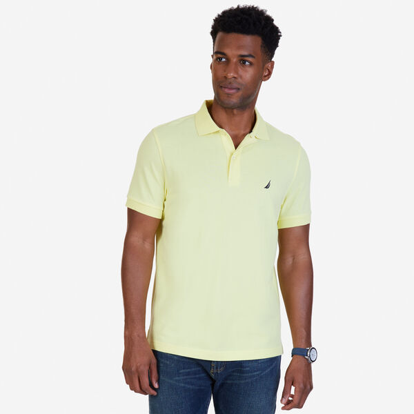 SLIM FIT MESH POLO - Lemon Mist