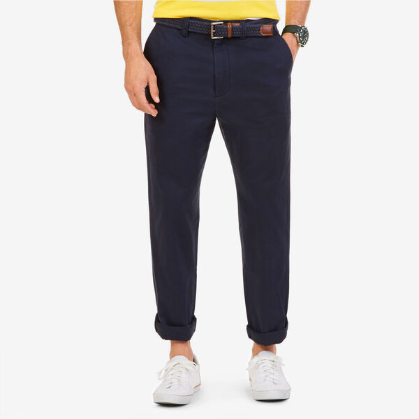 Big & Tall True Khaki Flat Front Pants - True Navy