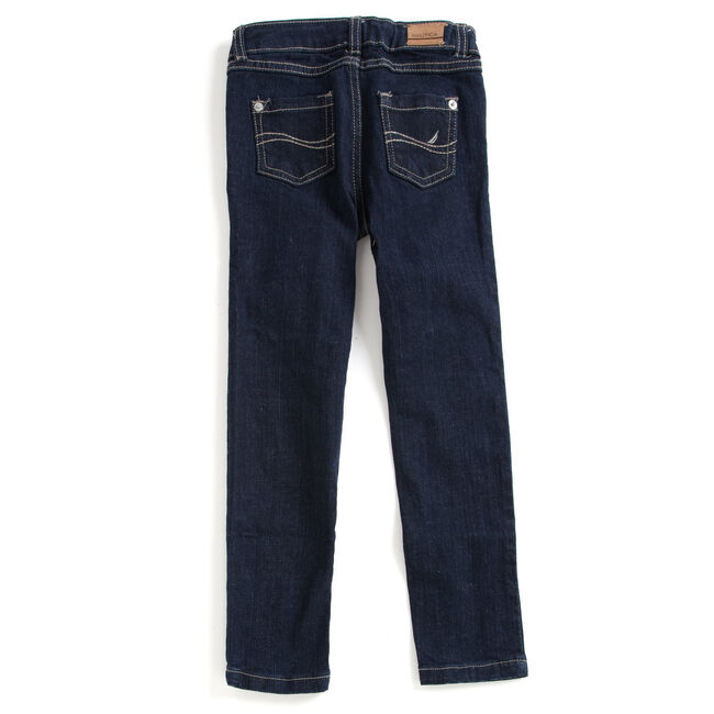 Girls' Skinny Jeans (8-16),Sapphire/Pitch Yellow,large