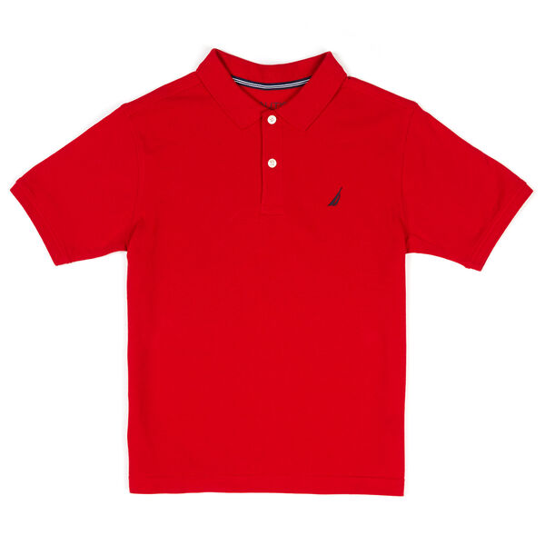 Little Boys' Anchor Stretch Polo Deck Shirt (4-7) - Melonberry