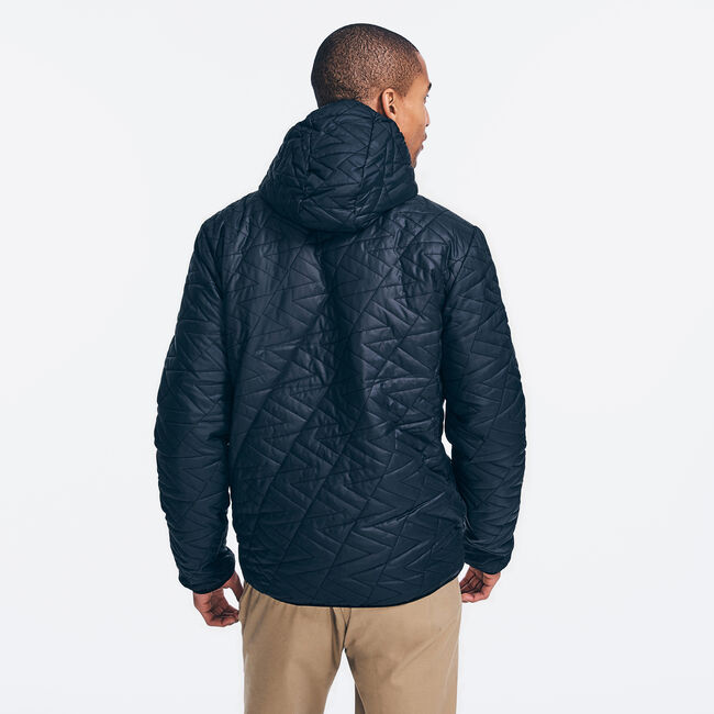 COMPETITION QUILTED LOGO JACKET,True Black,large