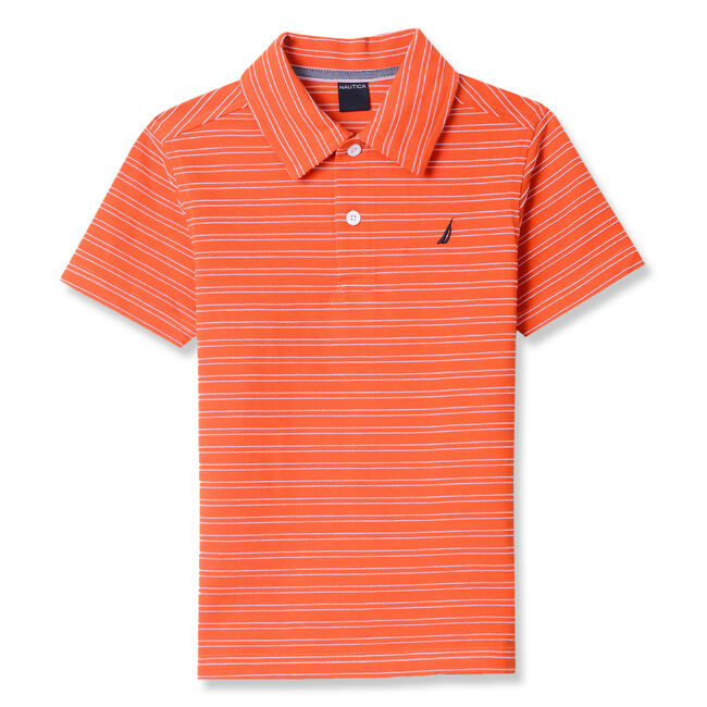 Toddler Boys' Rodrick Striped Polo (2T-4T),Sun Orange,large