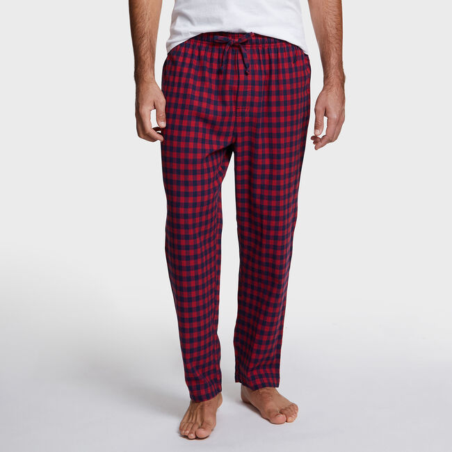 Flannel Plaid Pajama Pants,Rescue Red,large