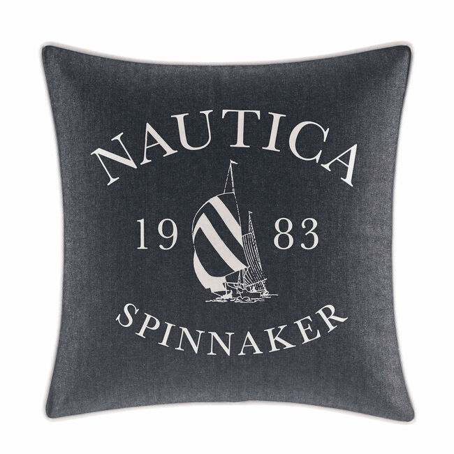 Heritage Square Throw Pillow,Pure Dark Pacific Wash,large