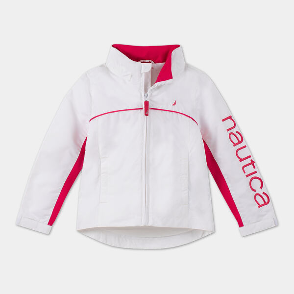 TODDLER GIRLS' WATER-RESISTANT J-CLASS JACKET (2T-4T) - Sail White