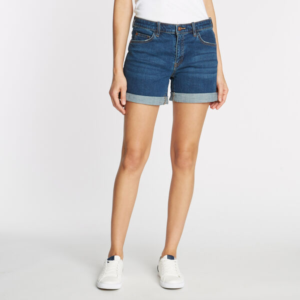 Cuff Denim Short in Beach Blue Wash - Delphinium Blue