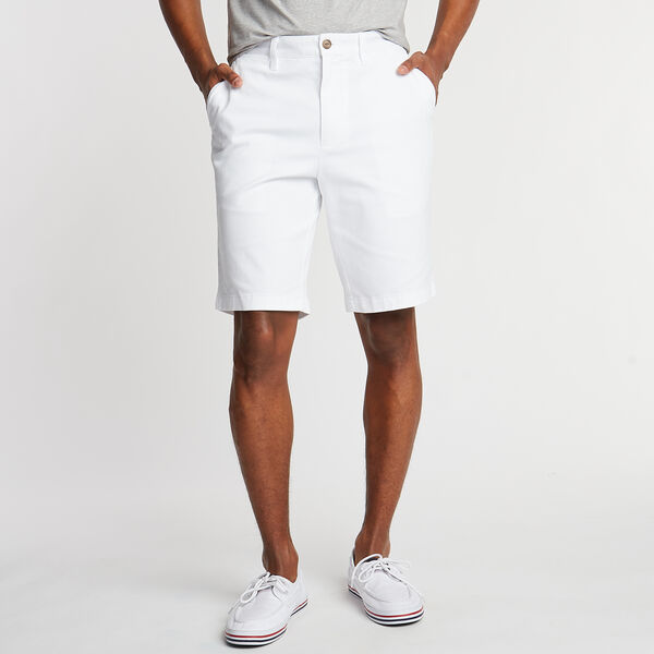 "10"" CLASSIC FIT DECK SHORTS WITH STRETCH - Bright White"