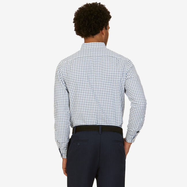 Classic Fit Tattersall Shirt,Reef Blue,large