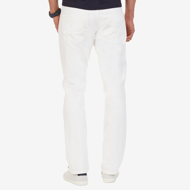 Selvedge White Denim Jeans,White Water Wash,large