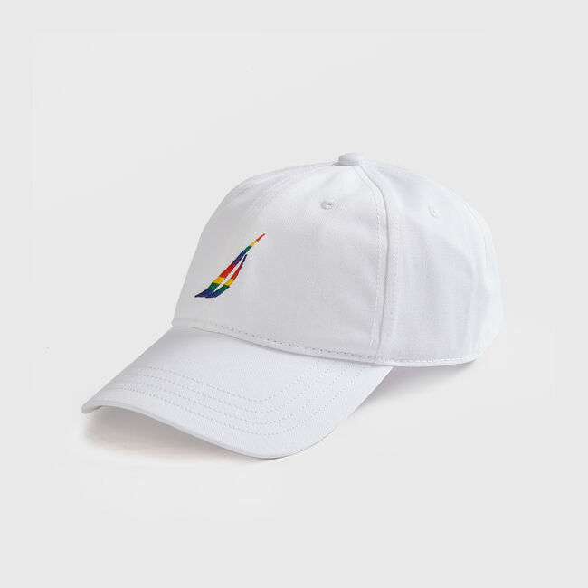 EMBROIDERED J CLASS PRIDE CAP,Bright White,large