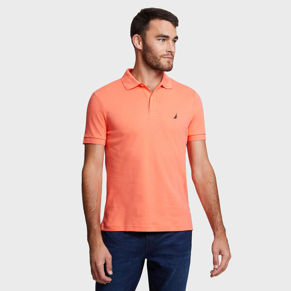 Short Sleeve Slim Fit Solid Interlock Polo - Vibe Orange