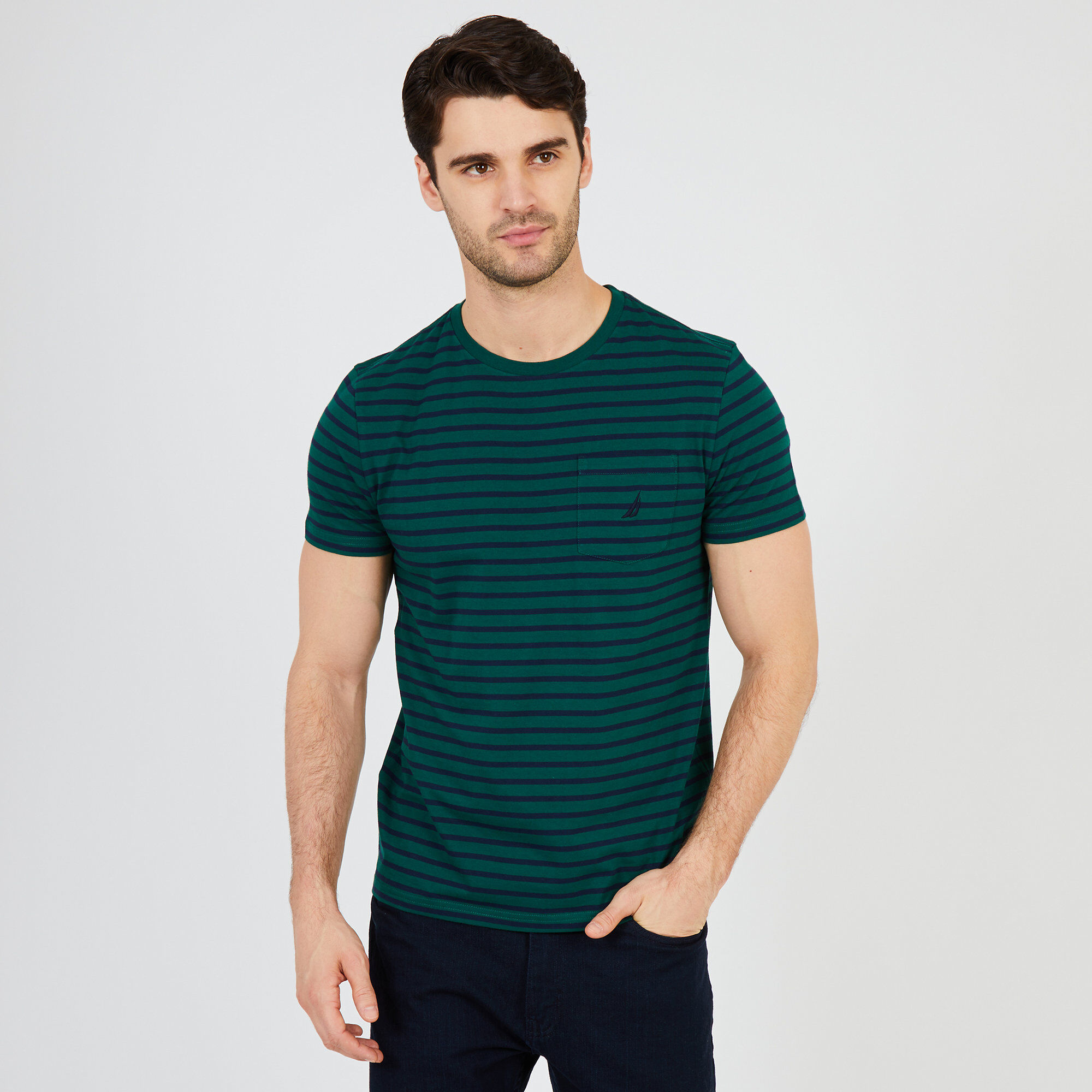 fd4c1e5949 Striped Short Sleeve Crewneck T-Shirt | Nautica