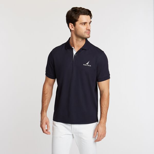 Classic Fit Solid Navtech Polo - Navy