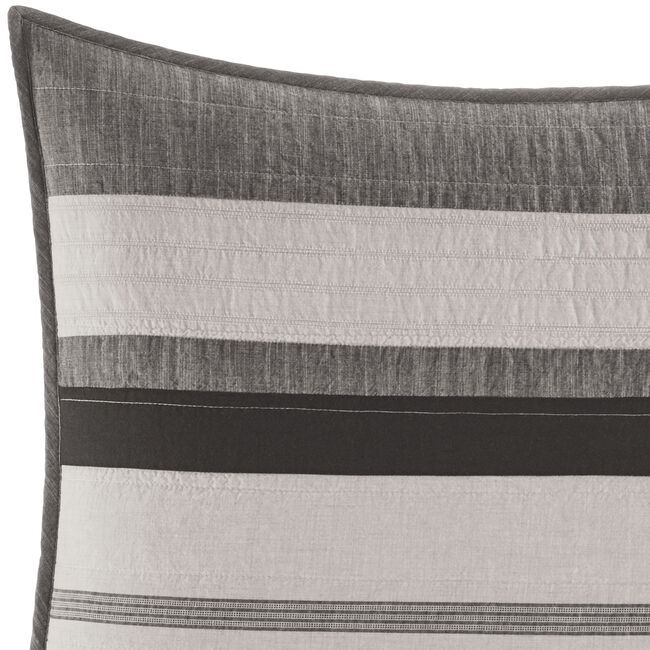 Kelsall Standard Pillow Sham in Charcoal,Charcoal Heather,large
