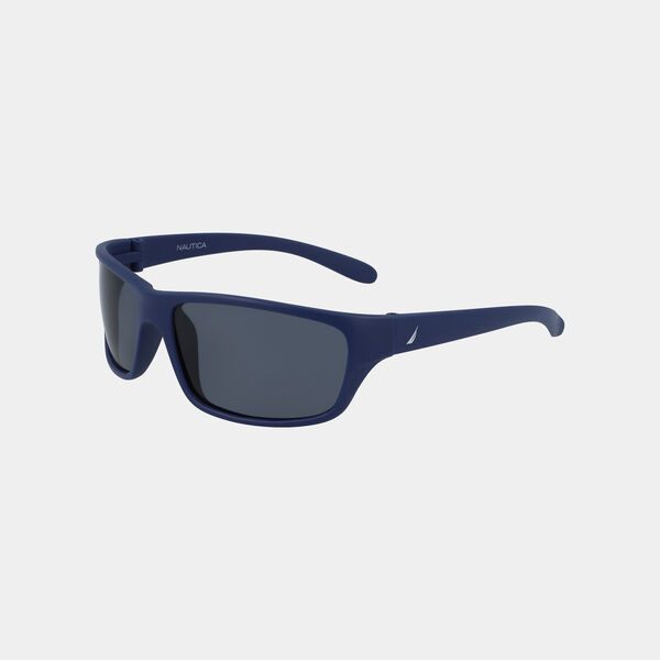 OVERSIZED WRAP SUNGLASSES - Angel Blue