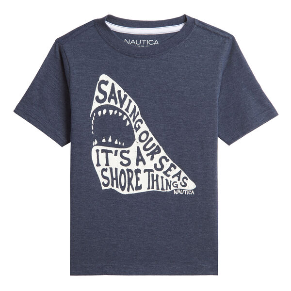LITTLE BOYS' SHARK GRAPHIC T-SHIRT (4-7) - Oyster Bay Blue