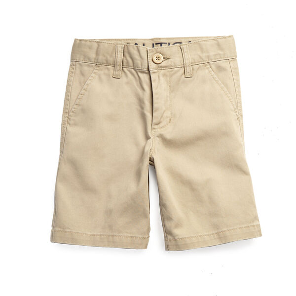 Little Boys' Flat Front Short (2T-7) - Driftwood Heather