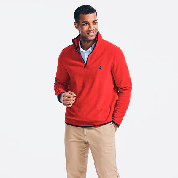 NAUTEX PERFORMANCE QUARTER-ZIP PULLOVER - Nautica Red
