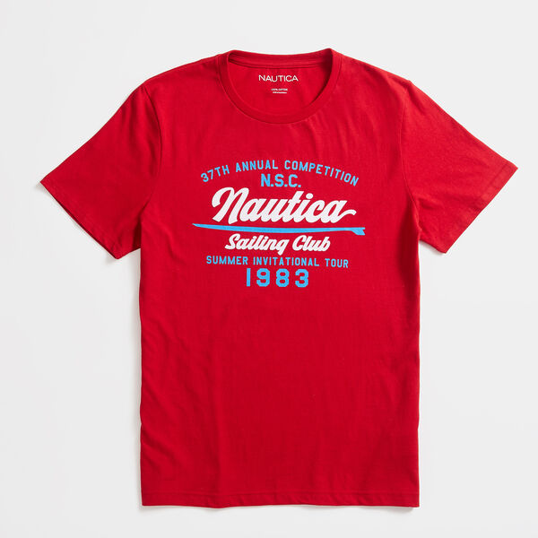 SAILING GRAPHIC T-SHIRT - Nautica Red