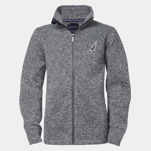 BOYS' J-CLASS FULL-ZIP FLEECE (8-20) - Gunmetal Grey