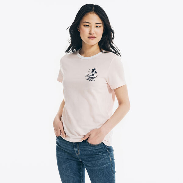 NAUTICA JEANS CO. SUSTAINABLY CRAFTED LOGO GRAPHIC T-SHIRT - Flare Red