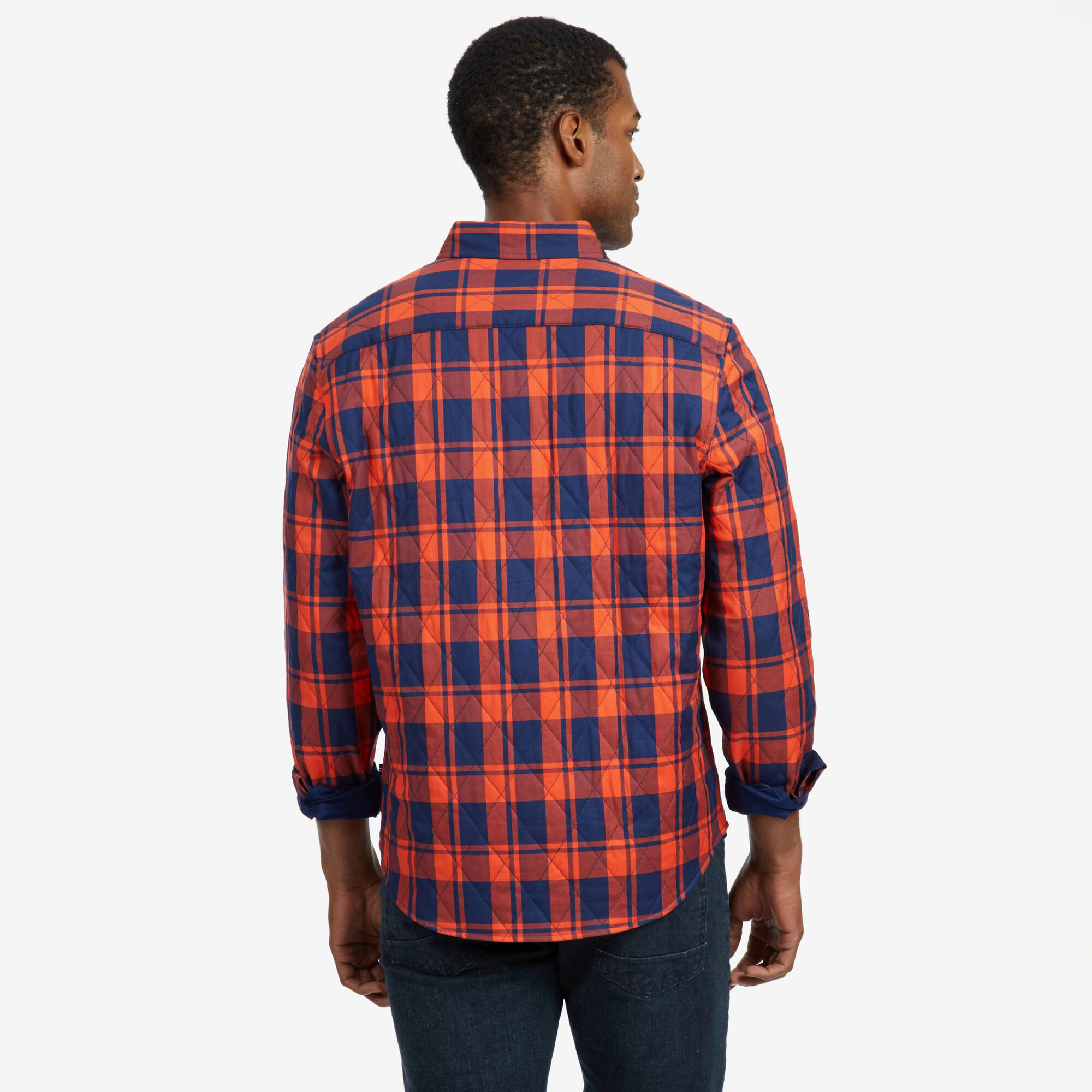 b02cbc599d4 Quilted Plaid Twill Classic Fit Long Sleeve Shirt