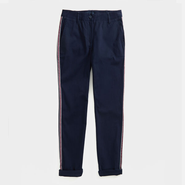 SIDE STRIPE CHINO PANTS - Stellar Blue Heather