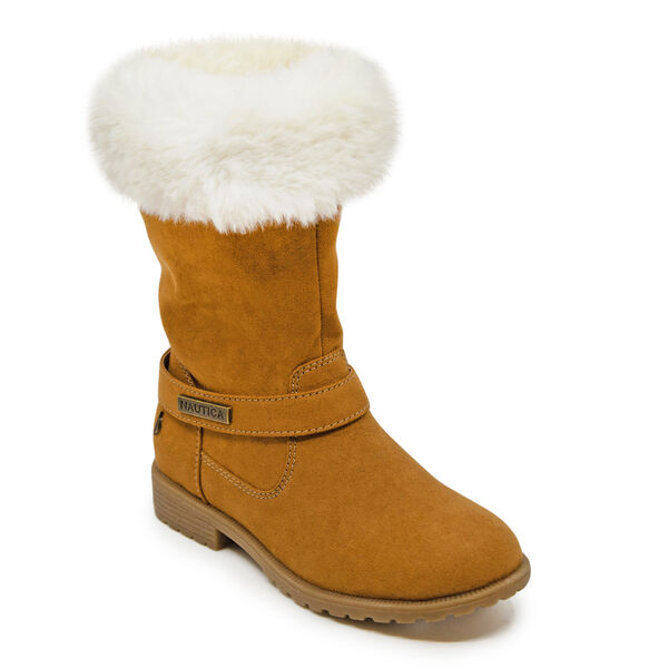 GIRL'S COZY WINTER BOOT - Dark Brown Heather