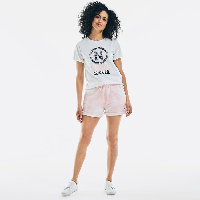 NAUTICA JEANS CO. SUSTAINABLY CRAFTED LOGO T-SHIRT,Bright White,large