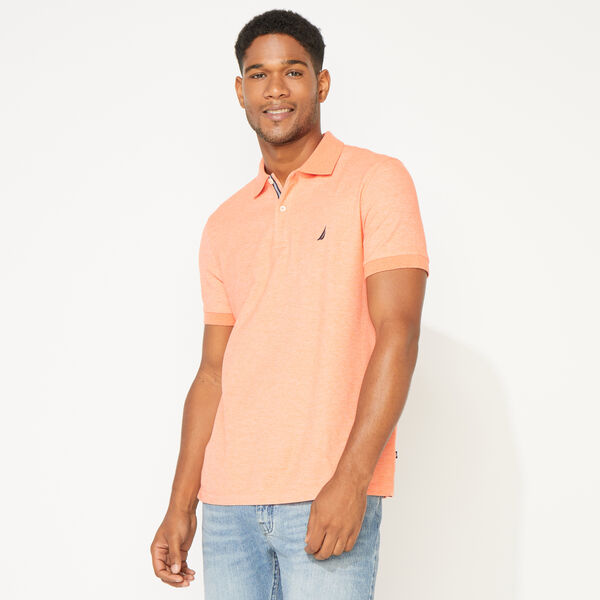 SLIM FIT DECK POLO - Shrimp
