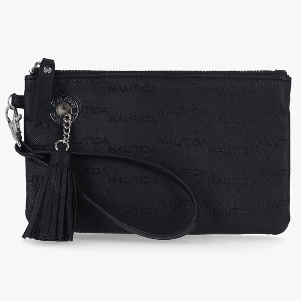 LOGO WRISTLET WITH DETACHABLE STRAP - True Black