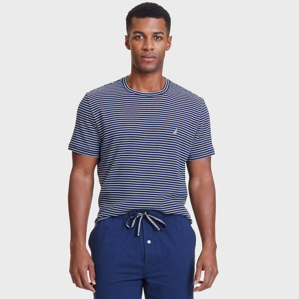Striped Sleep T-Shirt - Peacoat