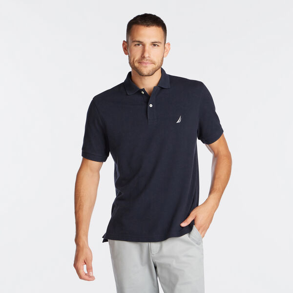 CLASSIC FIT PIQUÉ POLO - Navy
