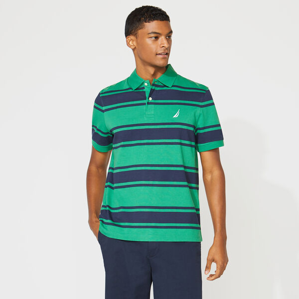 CLASSIC FIT STRIPED POLO - Cosmic Fern