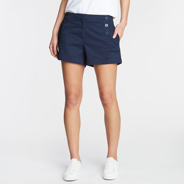 "Stretch Twill Sailor Shorts - 4"" Inseam - Deep Sea"