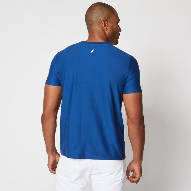 VERTICAL STRIPE LOGO T-SHIRT,Estate Blue,large