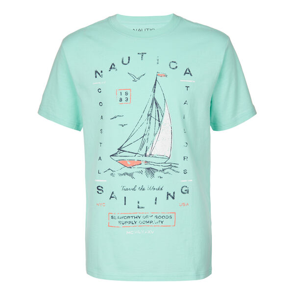 LITTLE BOYS' JACK SAILING TEE (4 - 7) - Billiard