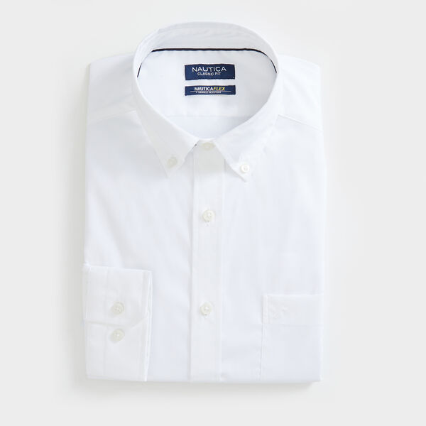 CLASSIC FIT WRINKLE-RESISTANT SOLID SHIRT - Bright White