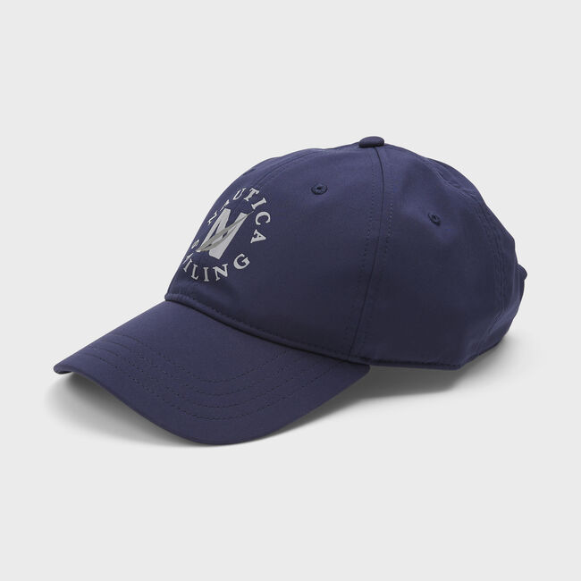 NAUTICA SAILING EMBROIDERED GRAPHIC CAP,Navy,large