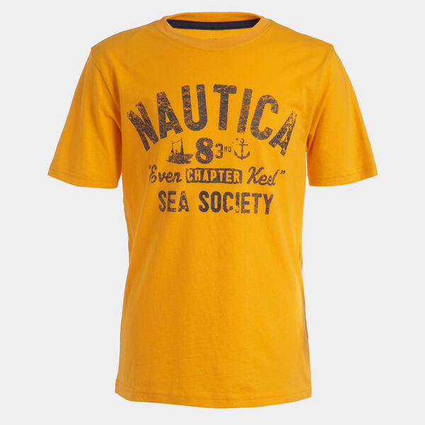 LITTLE BOYS' SEA SOCIETY GRAPHIC T-SHIRT (4-7) - Sisal