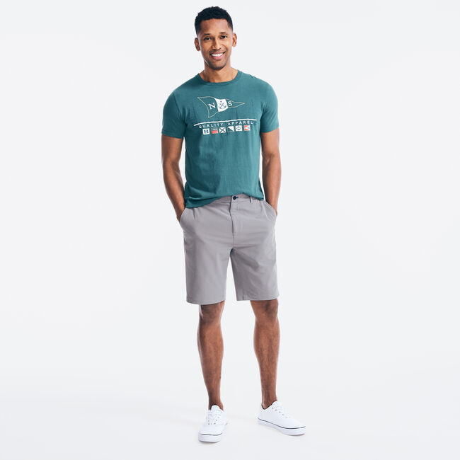LOGO FLAGS GRAPHIC T-SHIRT,Evergreen,large