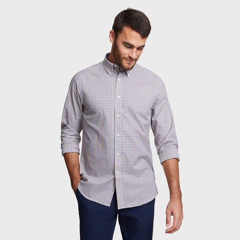 CLASSIC FIT SHIRT IN KHAKI SMALL TATTERSALL - Tavern