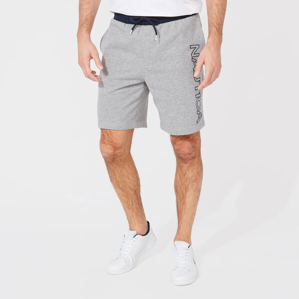 LOGO KNIT SHORTS - Stone Grey Heather