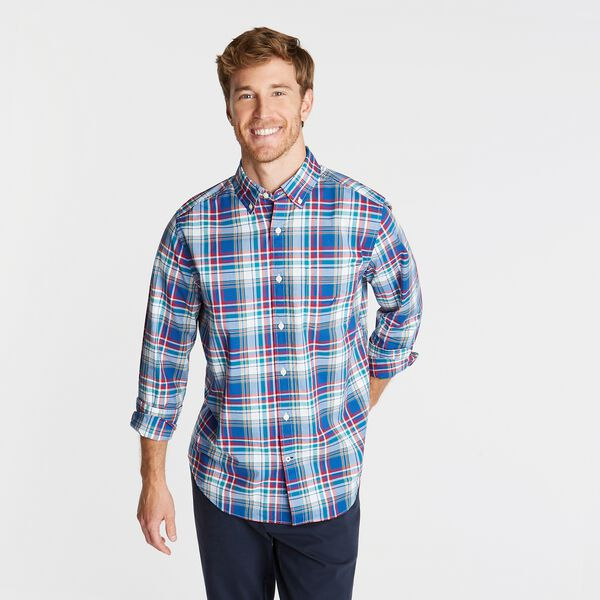 CLASSIC FIT OXFORD SHIRT IN MULTI-PLAID - Limoges