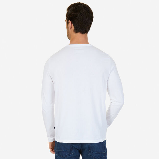 Stay the Course Graphic Long Sleeve T-Shirt,Bright White,large